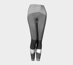 Razor Sharp Greys Leggings by Deloresart