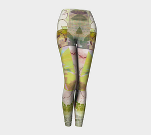 Sage Obscurity Collage Leggings by Deloresart