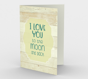 1400 I Love You To The Moon Stationery Card by Deloresart