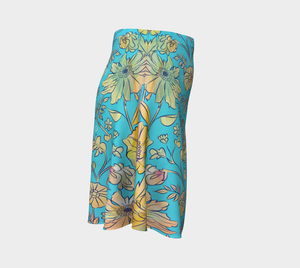 Francella Turquoise Flare Skirt by Deloresart