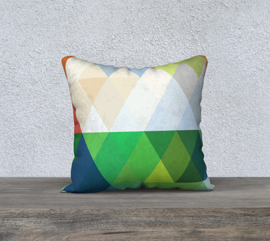 Support Beam Jewel Tones 2 Throw Pillow by Deloresart