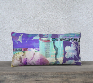 Bush Daisies Lumbar Pillow by Deloresart