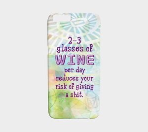 873 Three Glasses Of Wine Per Day Device Case - deloresartcanada