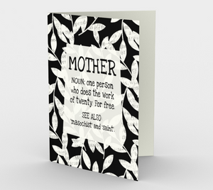 0475.Mother: Noun  Card by DeloresArt