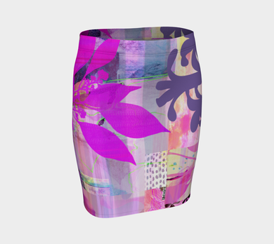 Verdant Island Fitted Skirt by Deloresart