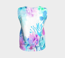 Nature's Bounty Loose Tank in Turquoise and Pink - deloresartcanada