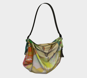 Perennials at Dusk Origami Tote by Deloresart
