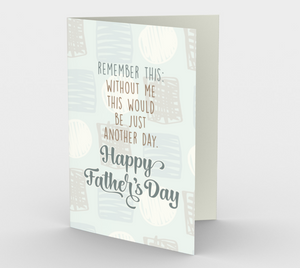 1248. Just Another Day Dad  Card by DeloresArt