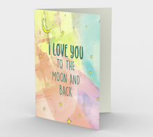 1399 Love You To The Moon and Back Card by Deloresart