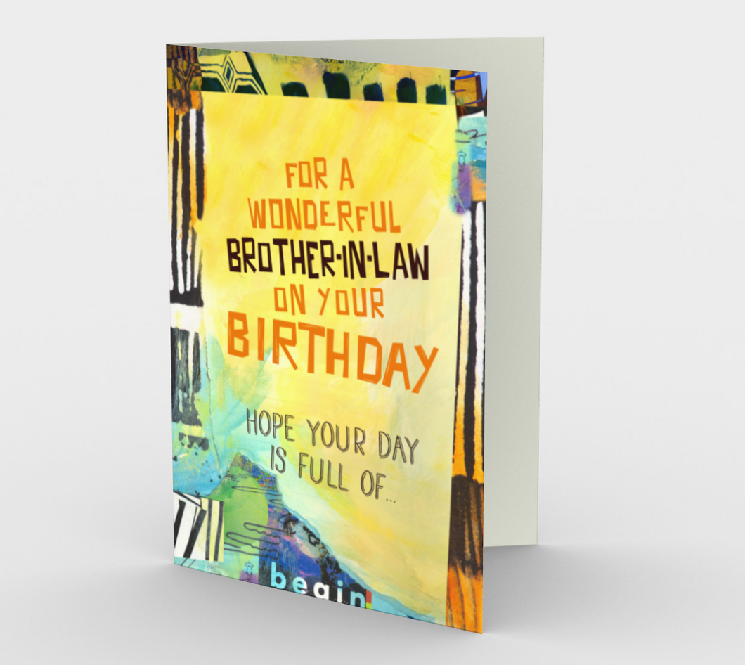1284. Wonderful Brother-in-Law  Card by DeloresArt