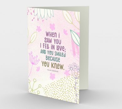 0749.When I Saw You I Fell In Love  Card by DeloresArt