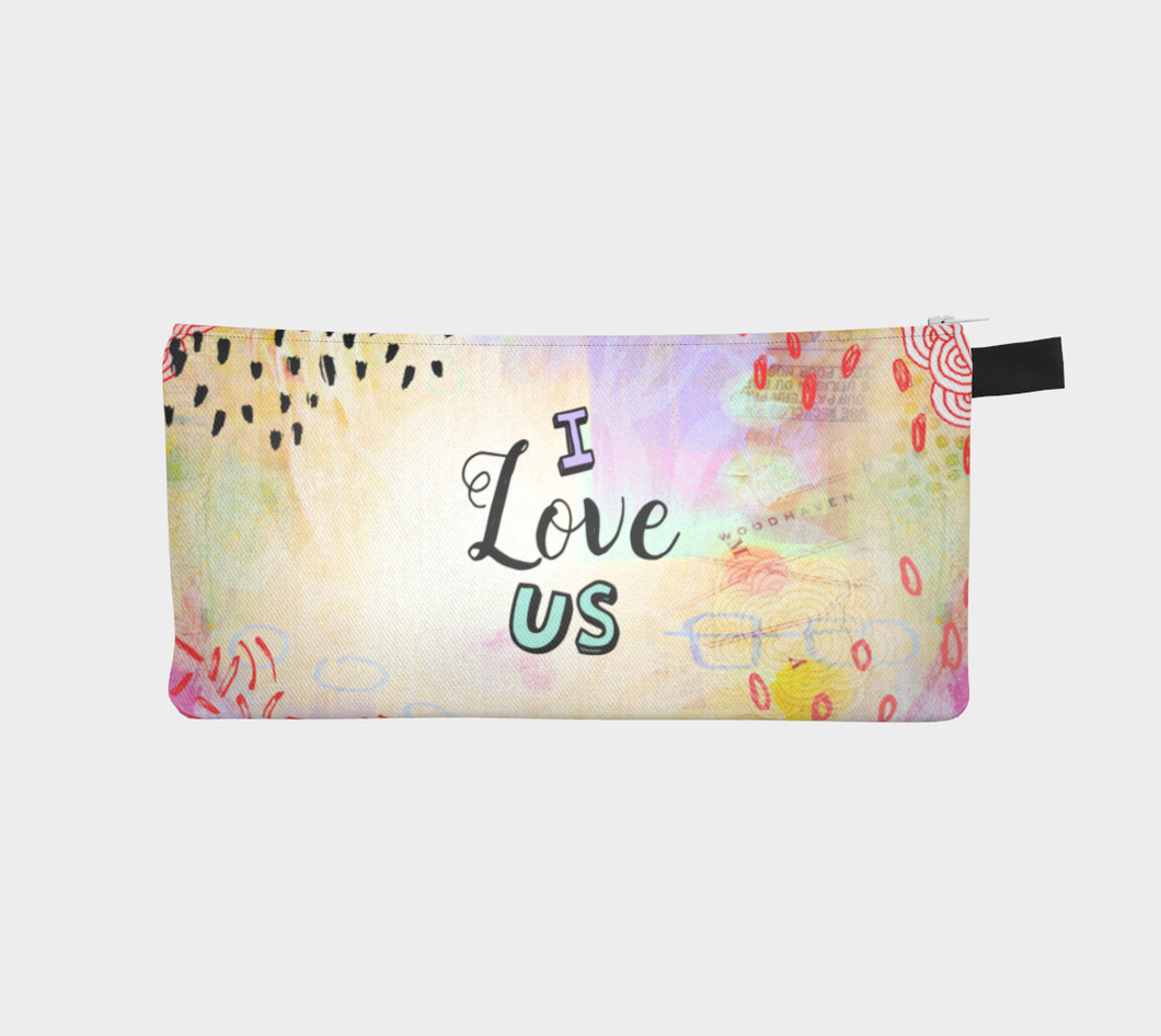 I Love Us Pencil Case by Deloresart