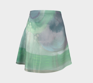 I Love You to the Moon Flare Skirt by Deloresart
