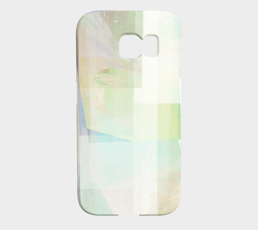 Del 490D Square Off Textured Purples And Greens Device Case