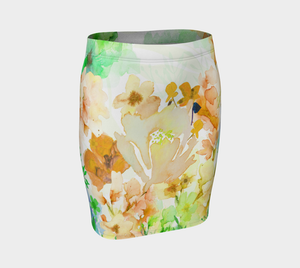 Gracious Garden Fitted Skirt by Deloresart