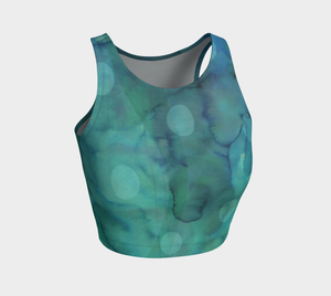 Because of You Greens Crop Top by Deloresart
