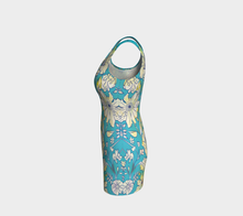 Francella Turquoise Bodycon Dress by Deloresart