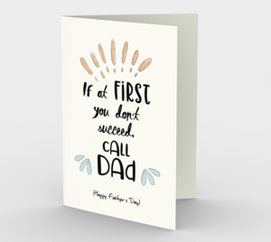 1072.Call Dad Father's Day  Card by DeloresArt