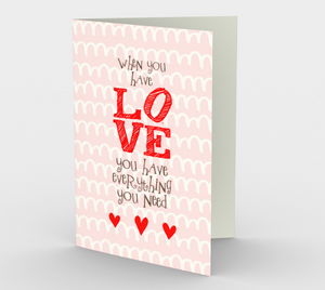 1157. When You Have Love v.2  Card by DeloresArt