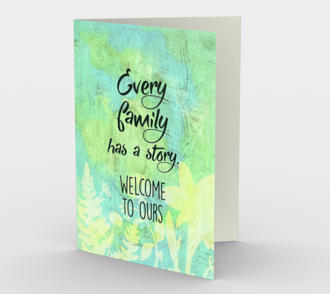 1357 Every Family Has a Story Card by Deloresart