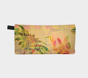 Sungold Sunflower Pencil Case by Deloresart