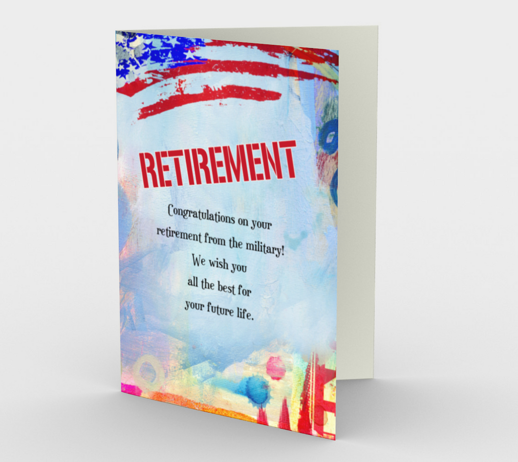 1368 Retirement/Military Card by Deloresart