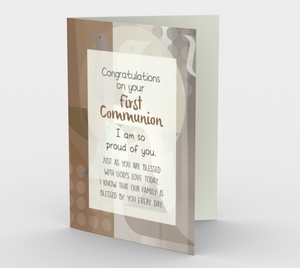 1304. Congrats/First Communion  Card by DeloresArt