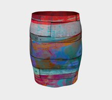 Drinking Rum Fitted Skirt by Deloresart