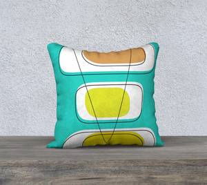 Telly Trio Brights Pillow by Deloresart