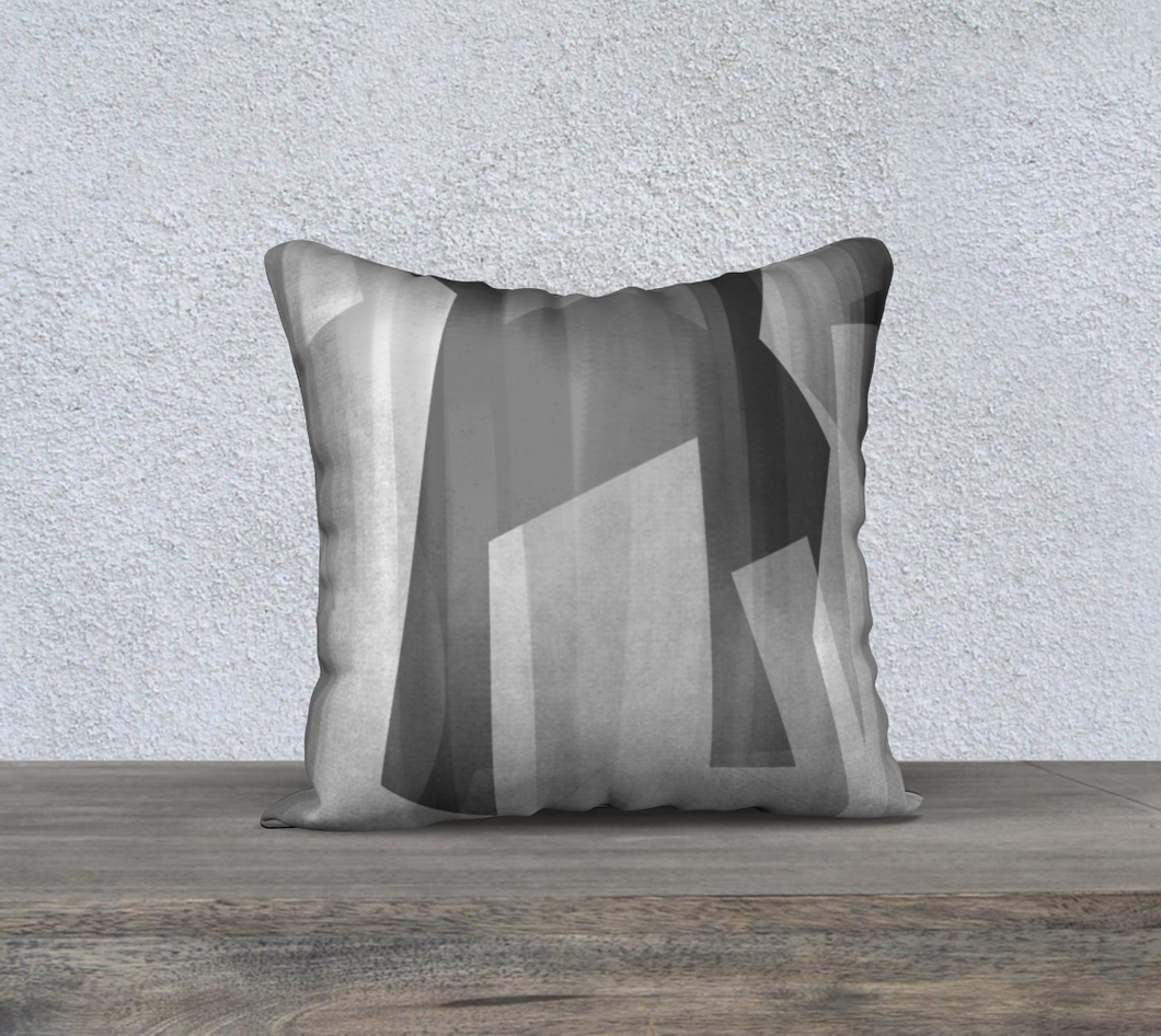Satin Symmetry Grays Throw Pillow by Deloresart