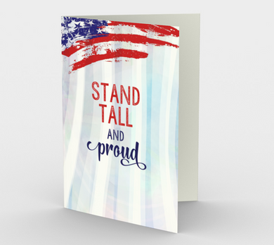 1367 Stand Tall And Proud Card by Deloresart
