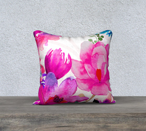 Pink Pleasure Throw Pillow by Deloresart