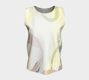 Shenanigans  Loose Tank by Deloresart Soft Yellows