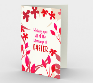 1164. Wishing Blessings Of Easter  Card by DeloresArt