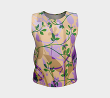 Fanciful Forest Loose Tank Purple, Green and Sand