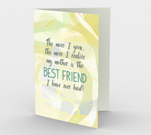 0683.Mother - Best Friend I Ever Had  Card by DeloresArt