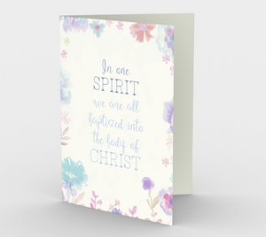 1294. In One Spirit/Baptized  Card by DeloresArt