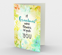 1196. If Grandmas Were Flowers  Card by DeloresArt
