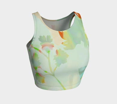 Francella Silhouette Crop Top by Deloresart