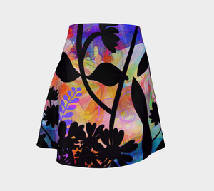 Hawaii Hibiscus Flare Skirt by Deloresart