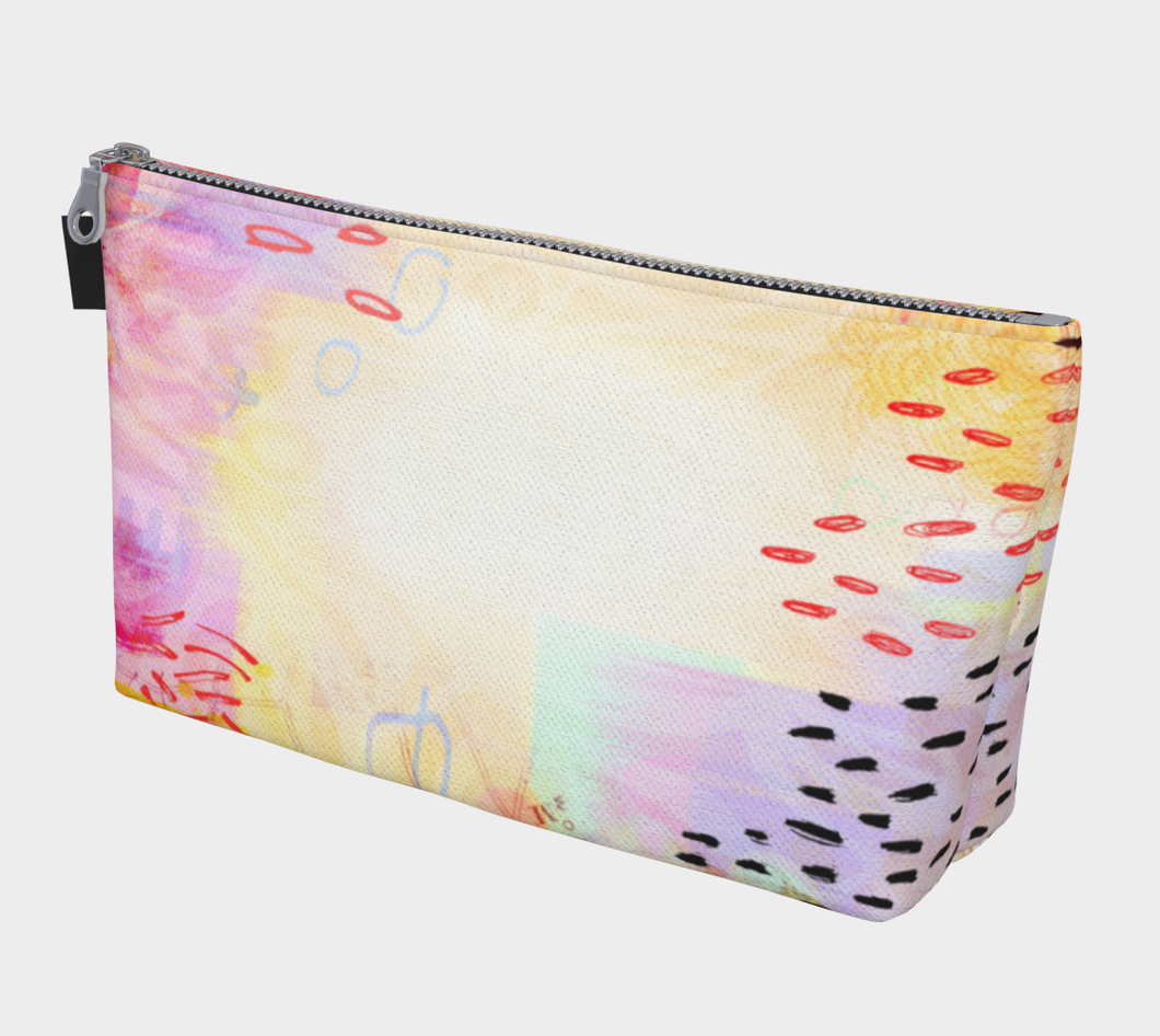 I Love Us Makeup Bag - deloresartcanada