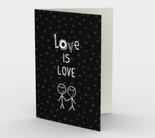 1404 Love Is Love Card by Deloresart