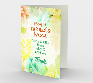 1132.Mom, You're Fabulous  Card by DeloresArt