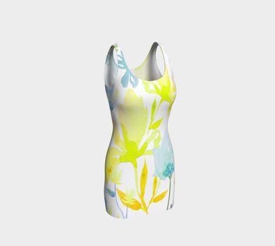 Dreamy Garden Yellow Bodycon Dress by Deloresart