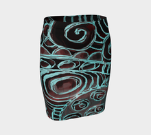 Crazy Swirl Fitted Skirt by Deloresart