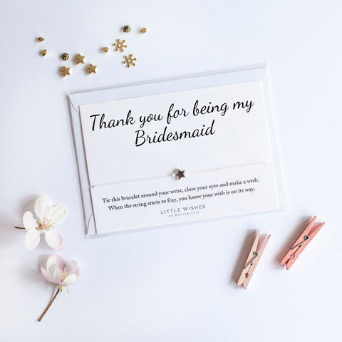 Little Wishes - Thank you for being my Bridesmaid Bracelet