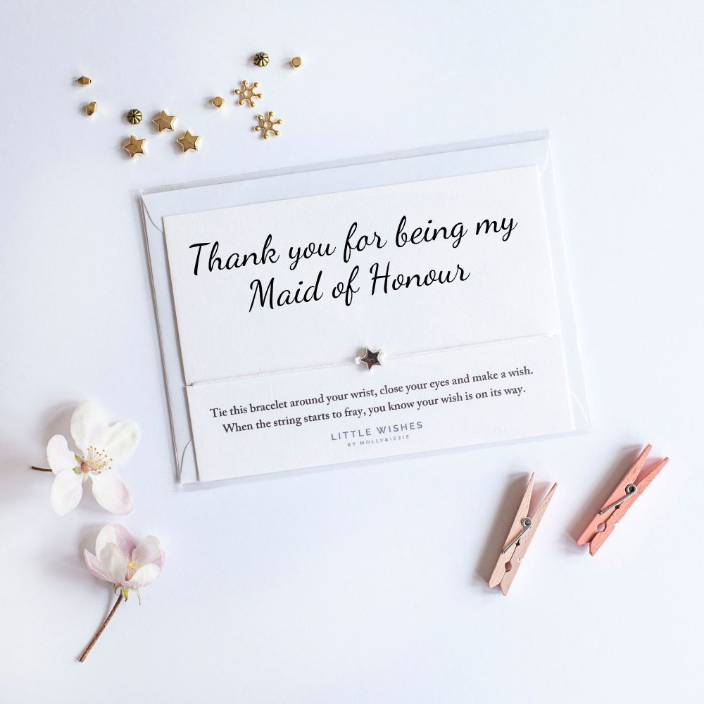 Little Wishes - Thank you for being my Maid of Honour Bracelet