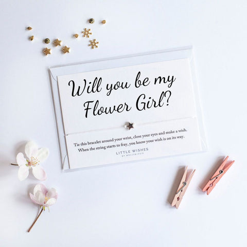 Little Wishes - Will You Be My Flower Girl Bracelet