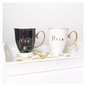 Bombay Duck His & Hers Gold Mugs - Set of 2