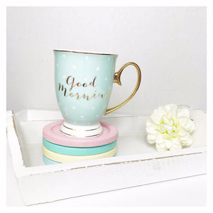 Bombay Duck Good Morning Mint & Gold Mug